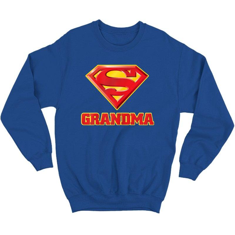 Superman Super Grandma T-shirt Crewneck Sweater
