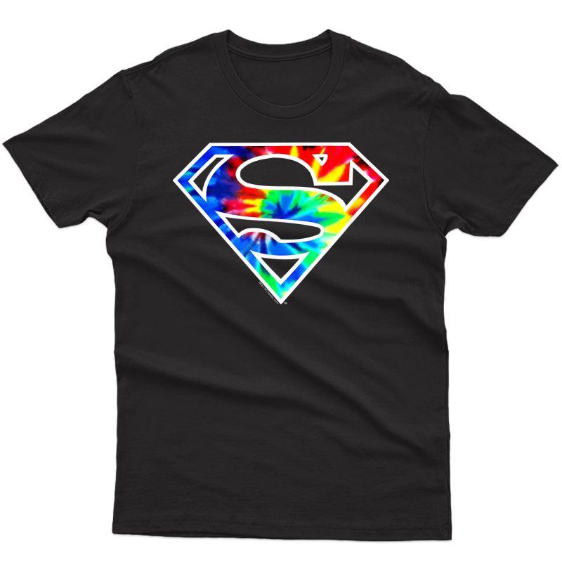 Superman Tie Dye Logo T-shirt