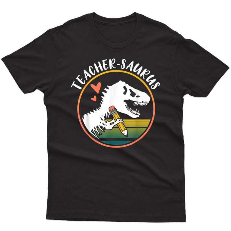 Tea-saurus Funny Dinosaur Tea Design T-rex Design T-shirt