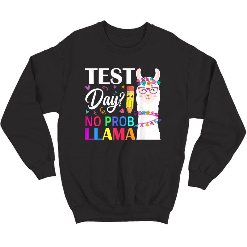Test Day No Prob- Tea Testing Day T-shirt Crewneck Sweater