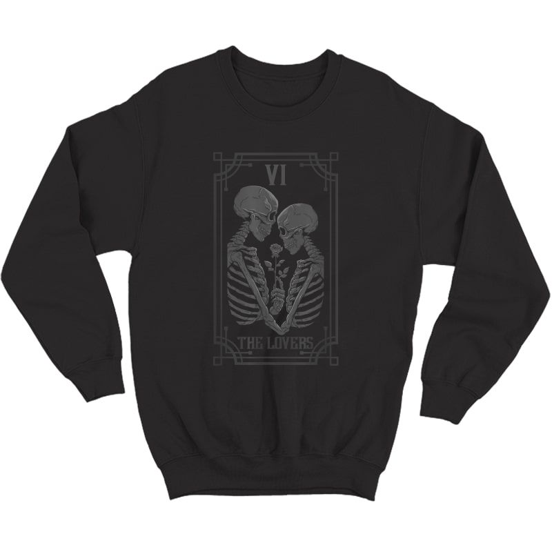The Lovers Tarot Card Occult Goth Halloween Gothic T-shirt Crewneck Sweater
