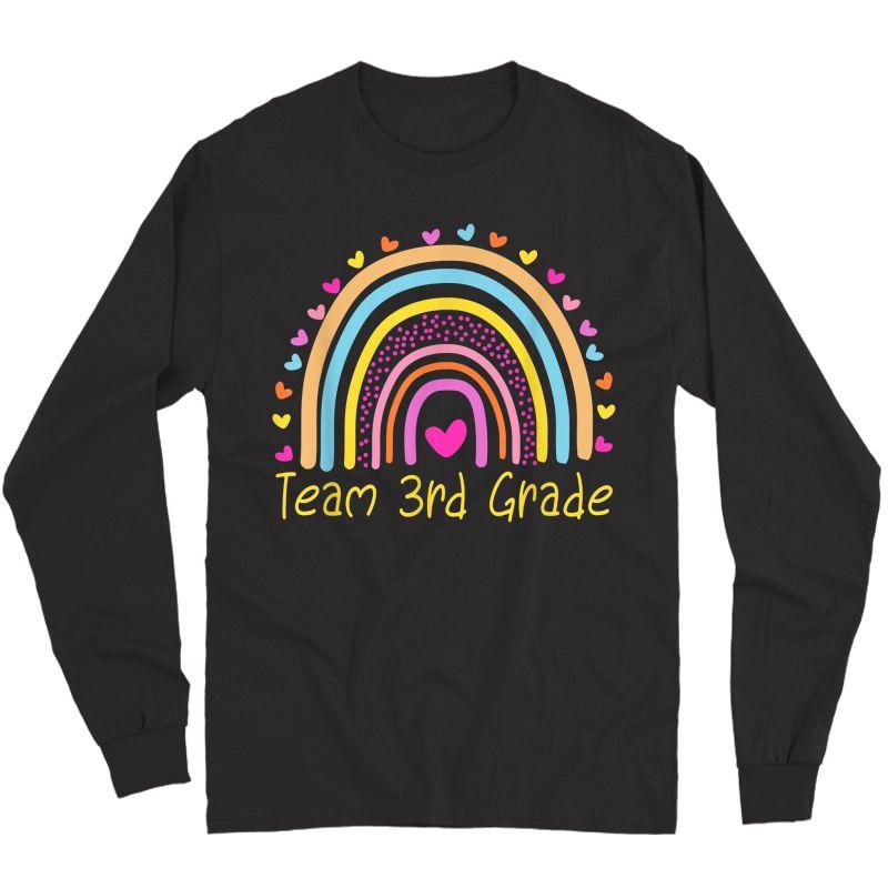 Third Grade Tea Team 3rd Grade Rainbow T-shirt Long Sleeve T-shirt