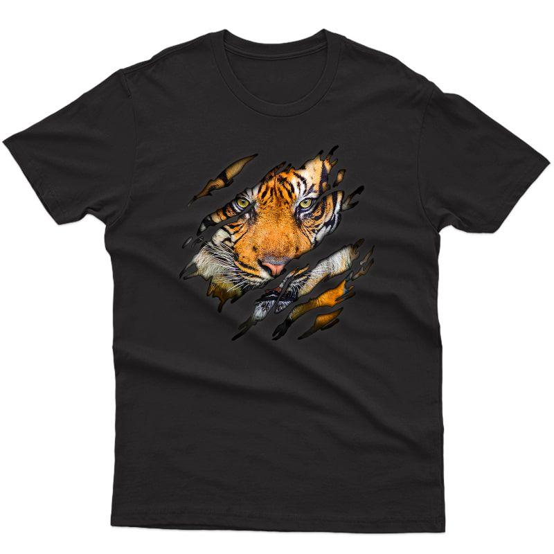 Tiger In Me Design, Tigerdesign, Animaldesign T-shirt