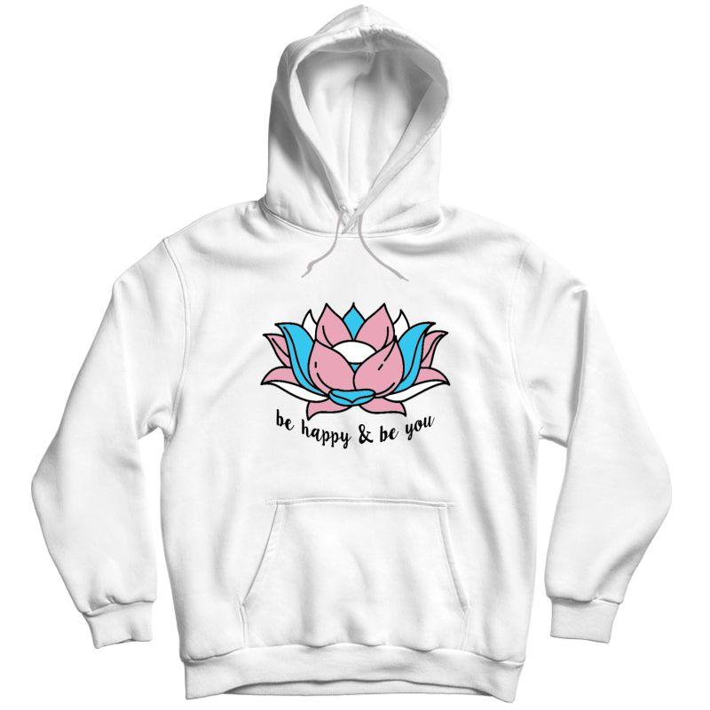 Transgender Pride Flag Lotus Flower Lgbt Gift Yoga Lovers Shirts Unisex Pullover Hoodie