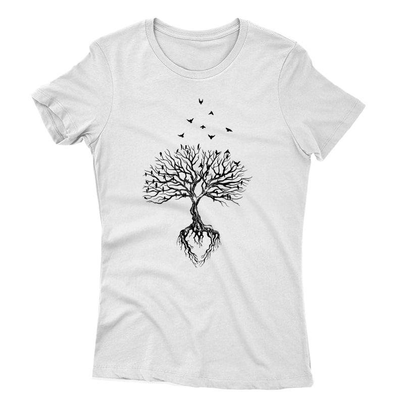 Tree Bird T-shirt, Life Symbol, Yoga Gift Shirt