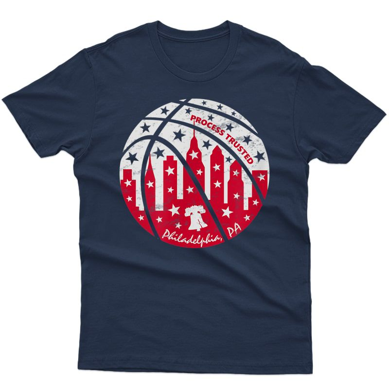 Trust The Process Trusted Philadelphia Basketball Philly T-shirt