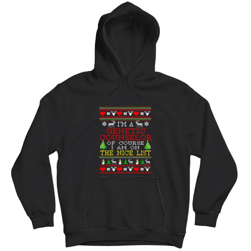 Ugly Christmas Sweater Gift For Genetic Counselor Shirt Unisex Pullover Hoodie