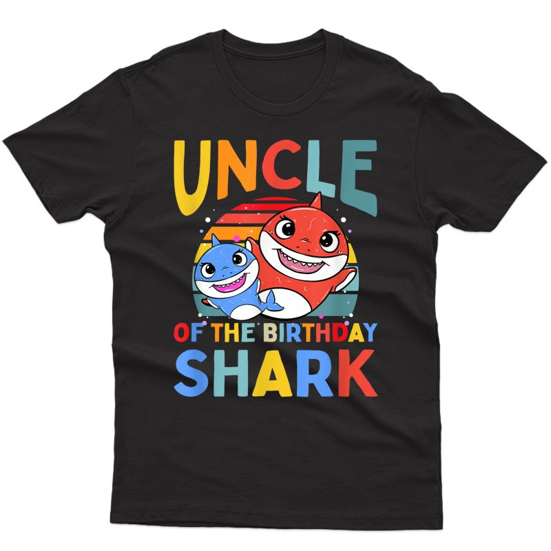 Uncle Of The Birthday Shark Matching Family T-shirt