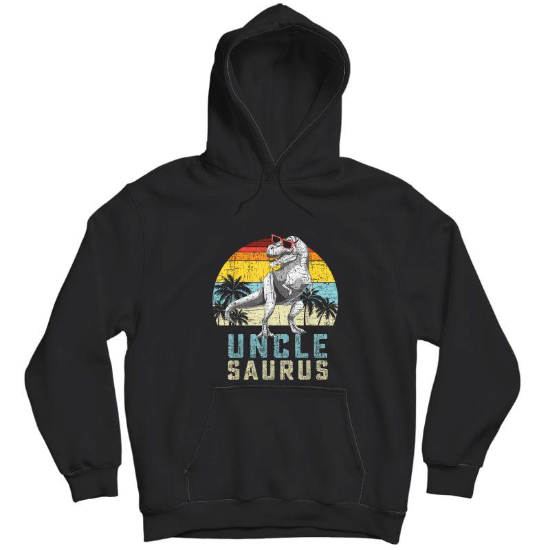 Unclesaurus Retro Vintage T Rex Uncle Saurus T-shirt Unisex Pullover Hoodie