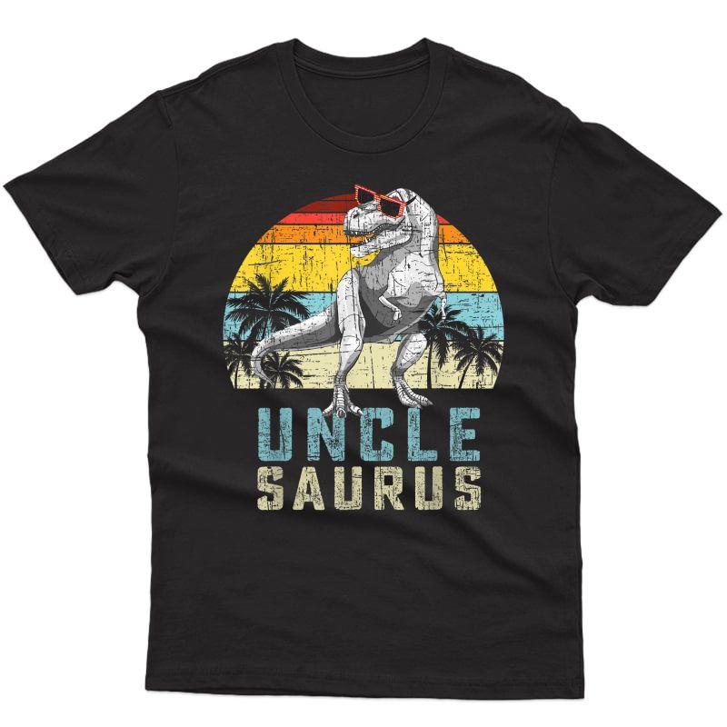 Unclesaurus Retro Vintage T Rex Uncle Saurus T-shirt