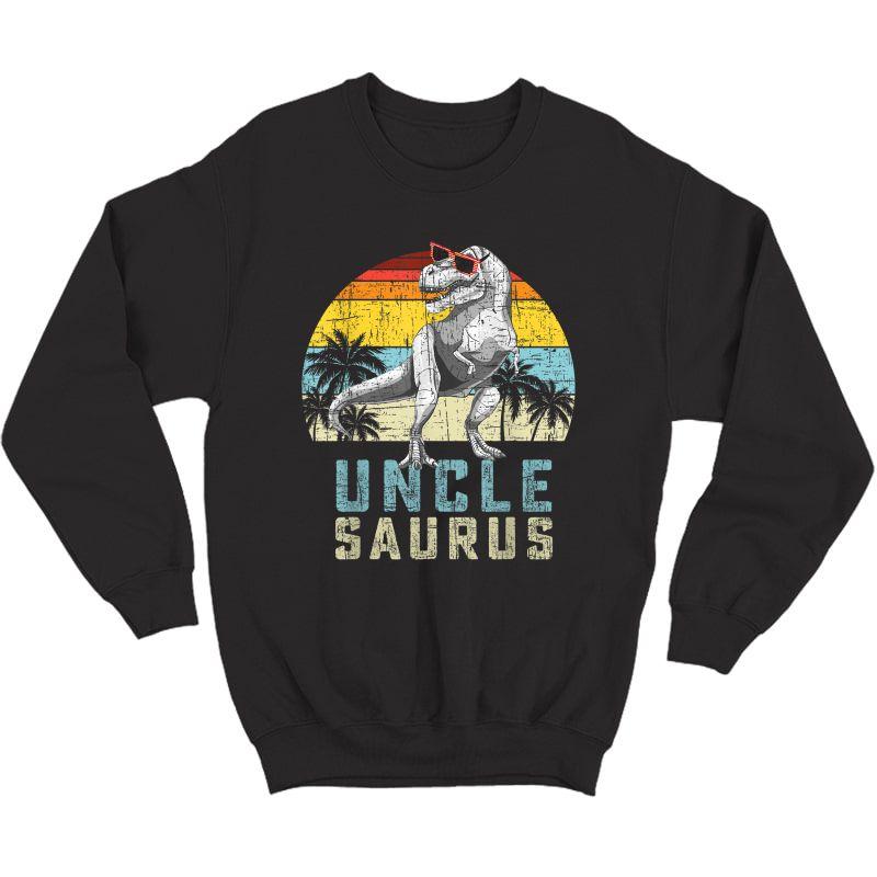 Unclesaurus Retro Vintage T Rex Uncle Saurus T-shirt Crewneck Sweater