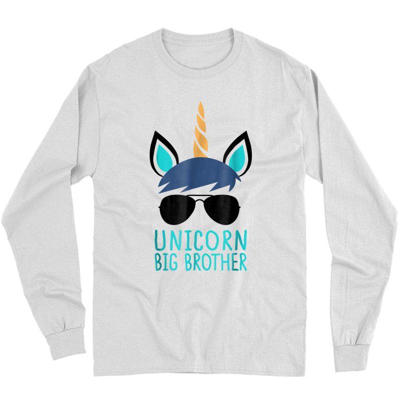 Unicorn Big Brother T-shirt Boy Long Sleeve T-shirt