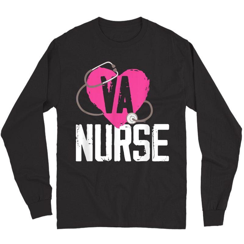 Va Nurse Veterans Affairs Nurse T-shirt Long Sleeve T-shirt