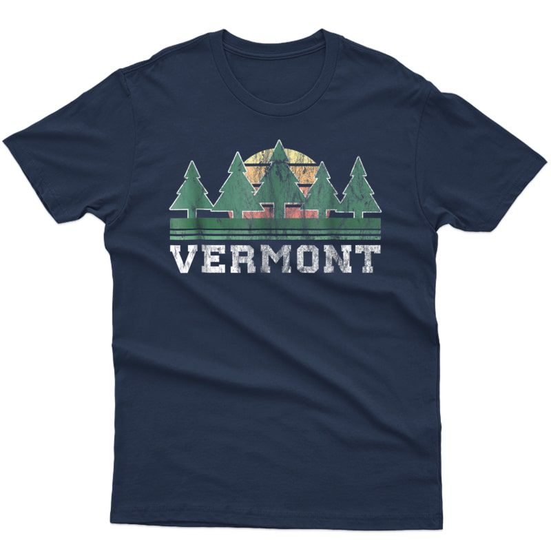 Vermont T-shirt Retro Vintage Shirt Gift