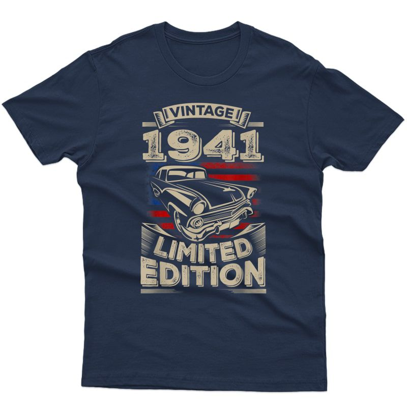 Vintage 1941 80th 80 Years Old Birthday Gift For Mom Dad T-shirt