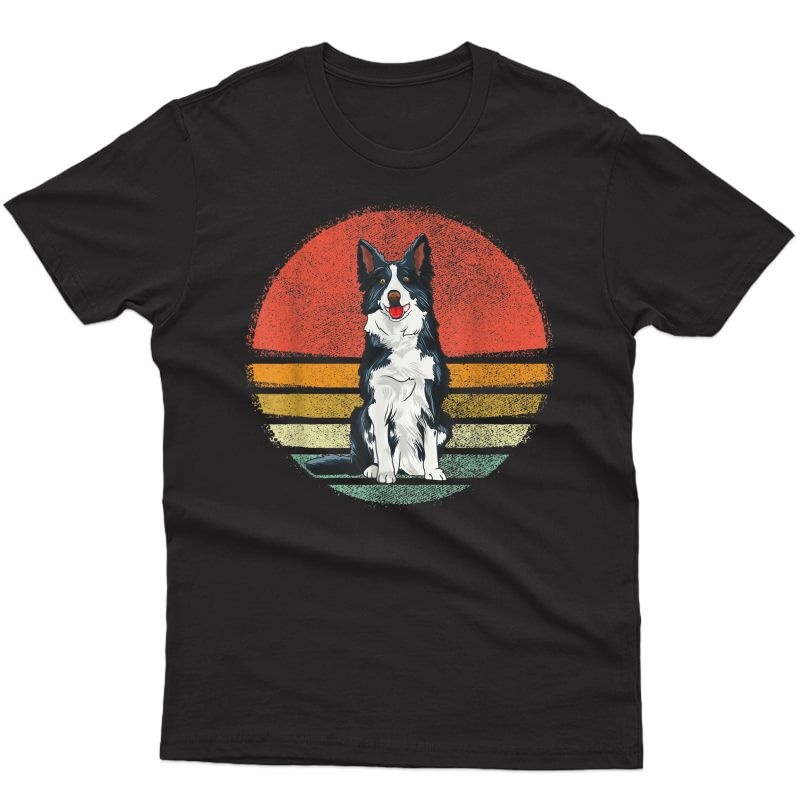 Vintage Border Collie Dog Retro Border Collie Lover T-shirt