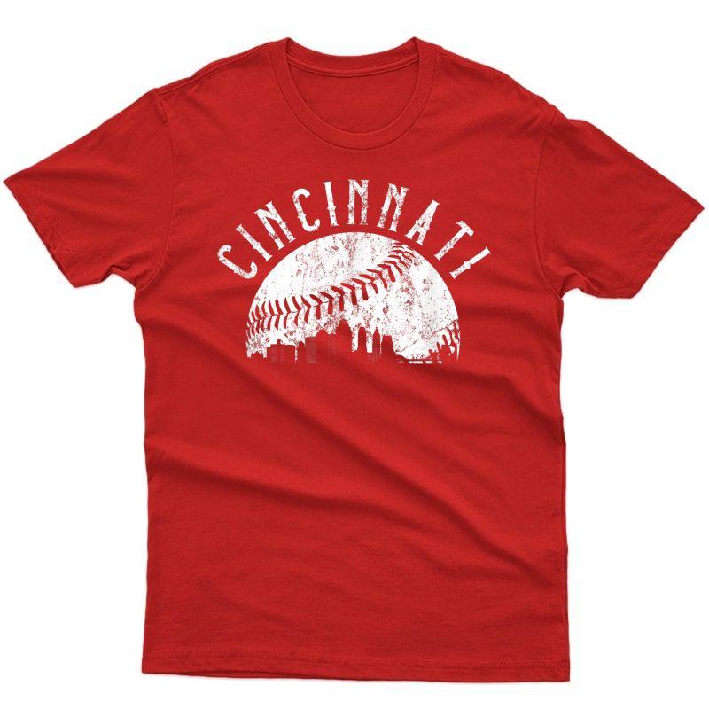 Vintage Cincinnati Retro Baseball Throwback T-shirt