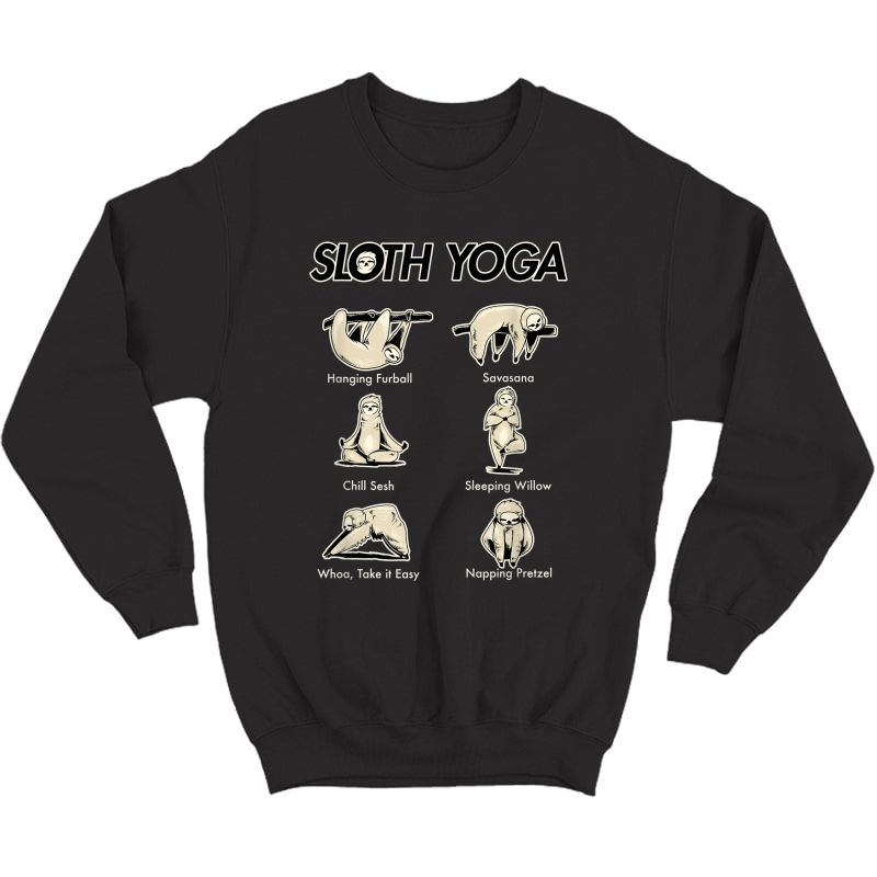 Vintage Funny Cute Namaste Sloth Yoga Lover T Shirt Crewneck Sweater