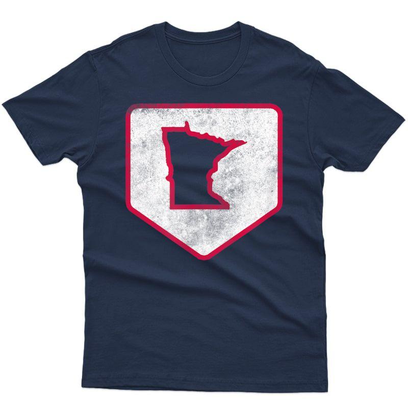Vintage Mpls Stp Minnesota Baseball Home Plate T-shirt