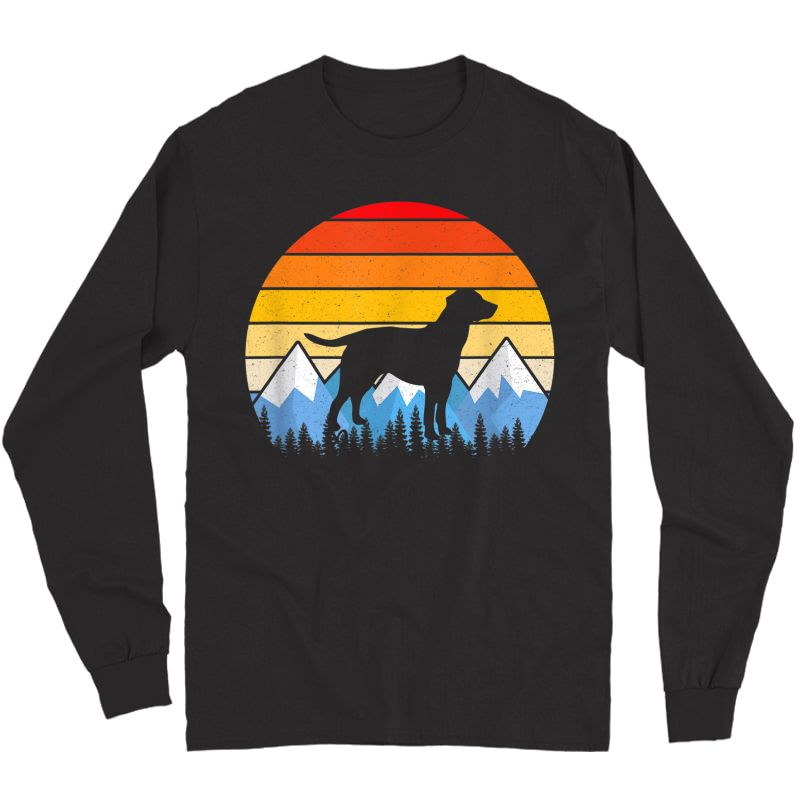 Vintage Retro Dog Gifts Labrador Retriever Lovers T Shirts Long Sleeve T-shirt