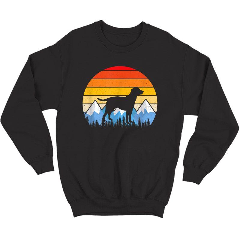Vintage Retro Dog Gifts Labrador Retriever Lovers T Shirts Crewneck Sweater
