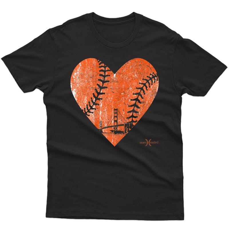 Vintage San Francisco Baseball Heart T-shirt