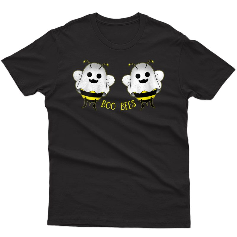 Boo Bees T-shirt Halloween Ghost Bee Here For The Boos T-shirt