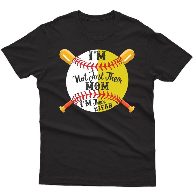 I'm Their Number 1 Fan Softball Baseball Mom T-shirt