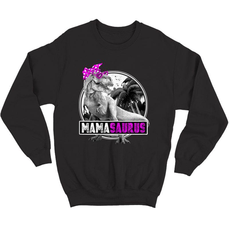 Mamasaurus Shirt Funny T Rex Mom Dinosaur Mama Saurus T-shirt Crewneck Sweater