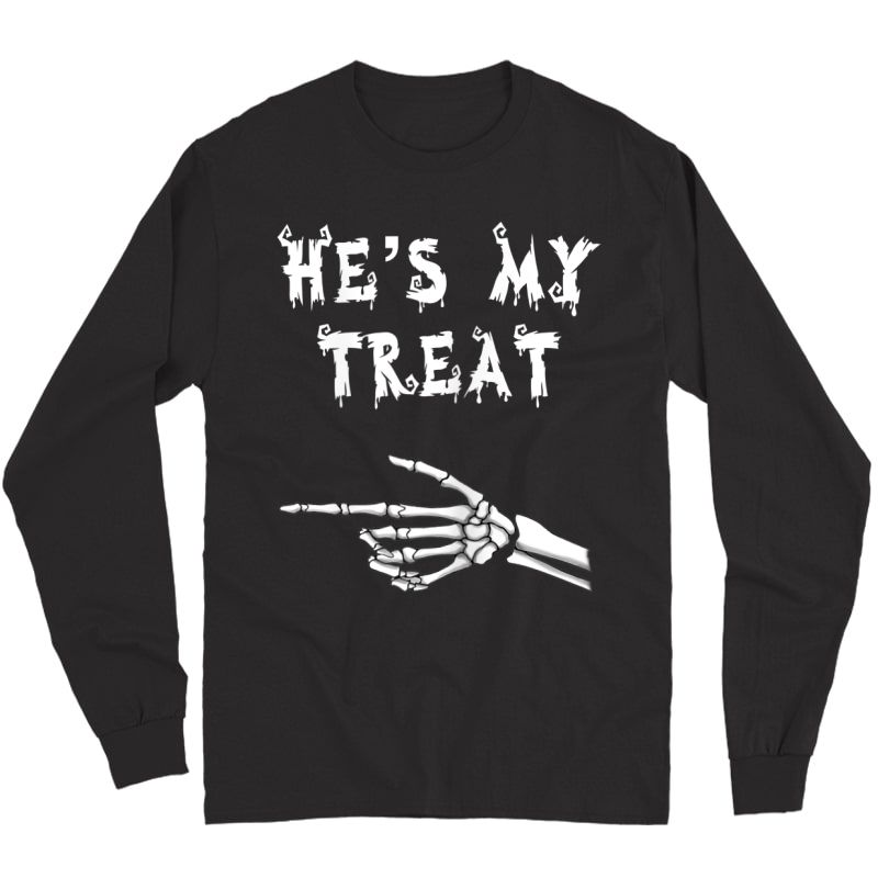 Matching Couples Halloween Shirts. His And Hers Funny Shirt Long Sleeve T-shirt