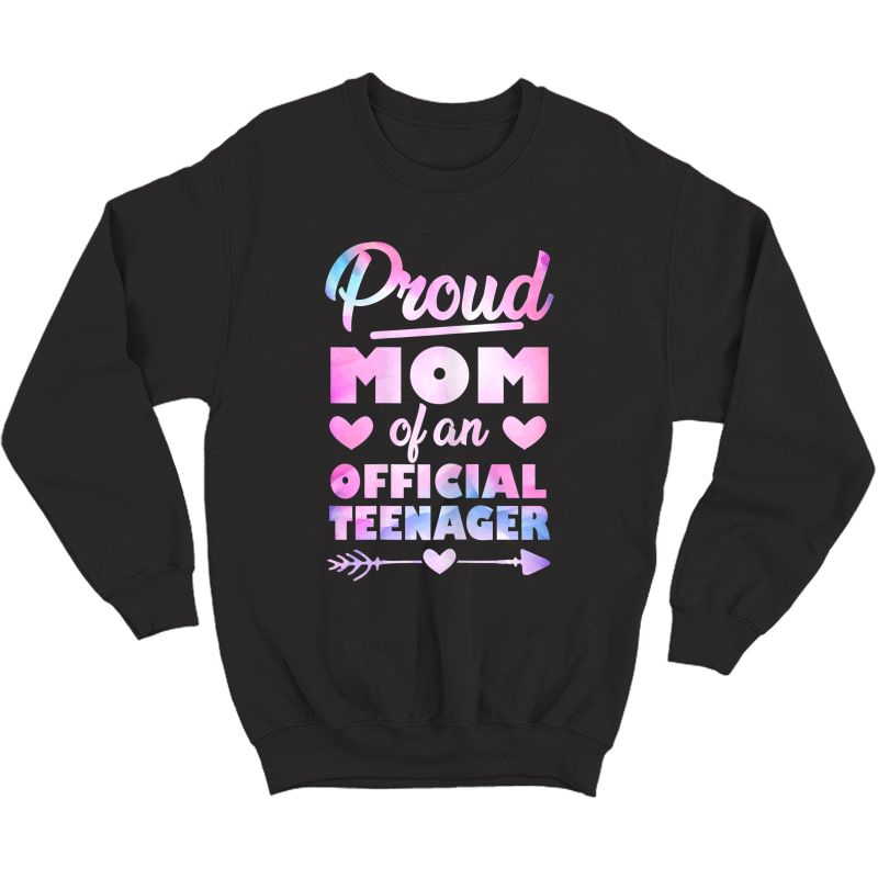 Proud Mom Of An Teenager 13th Birthday Party Shirt Crewneck Sweater