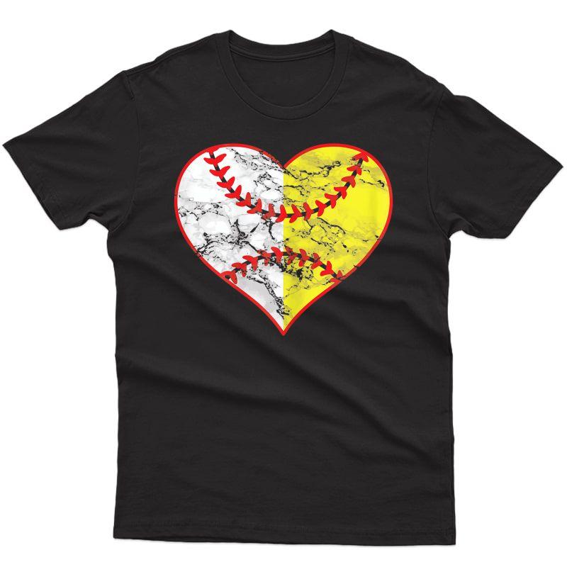 Softball Heart Mom Baseball Ideas T-shirt