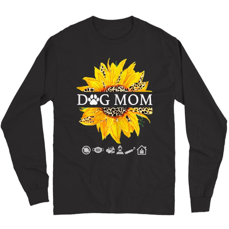 Sunflower Leopard Shirt Dog Loving Mom Plus T-shirt Long Sleeve T-shirt