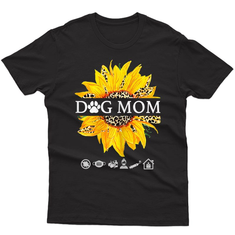Sunflower Leopard Shirt Dog Loving Mom Plus T-shirt