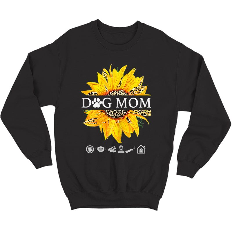 Sunflower Leopard Shirt Dog Loving Mom Plus T-shirt Crewneck Sweater