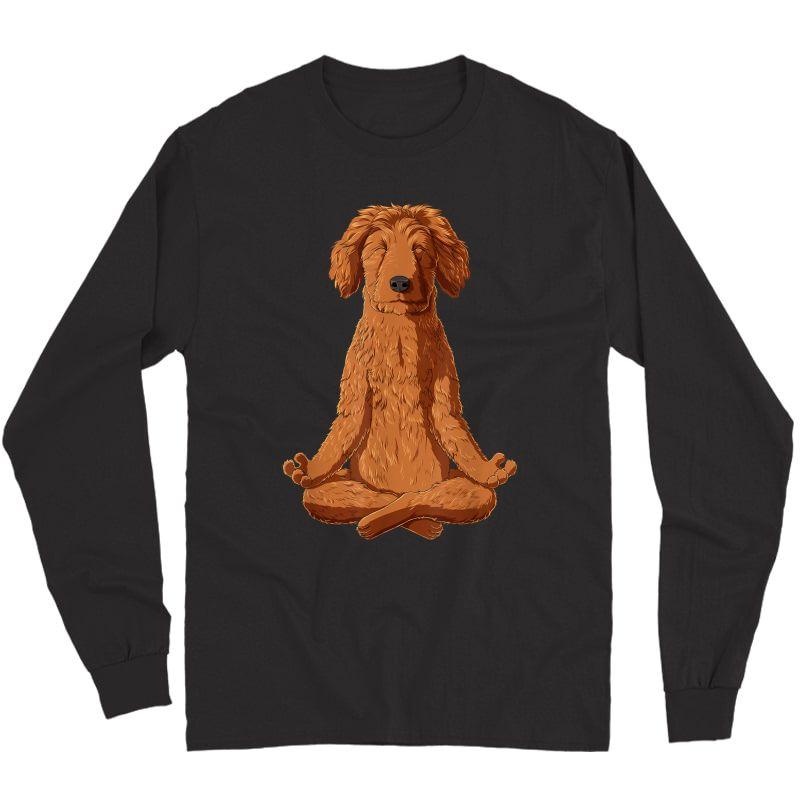 Yoga Dog Goldendoodle T-shirt Long Sleeve T-shirt