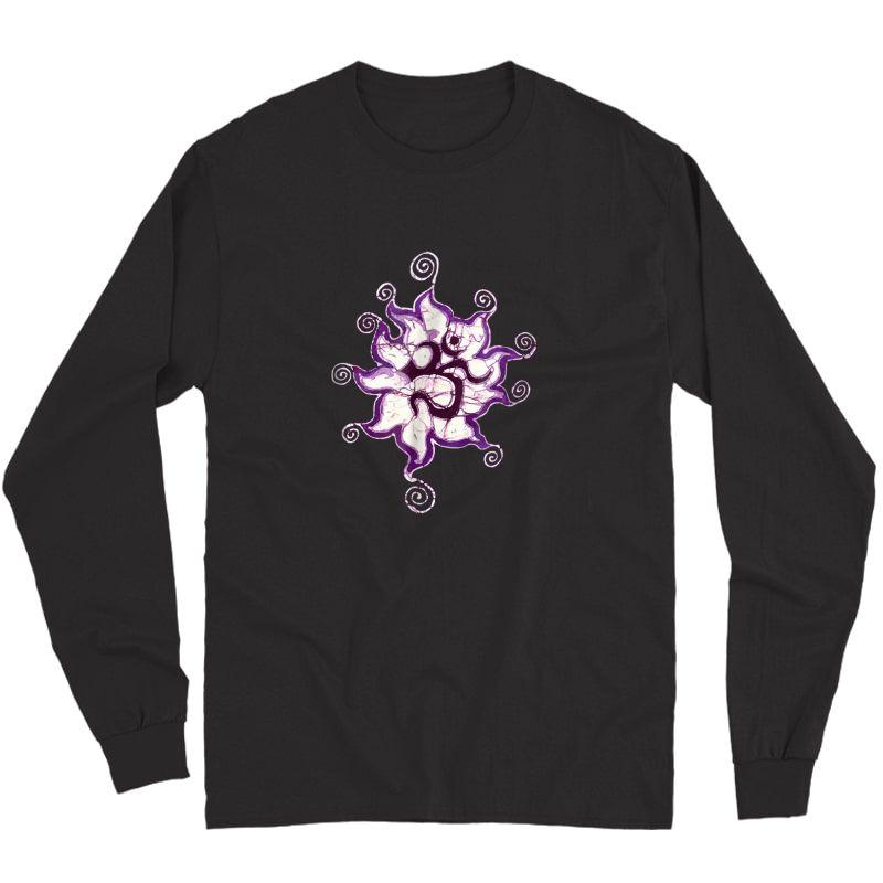 Yoga Om Batik Artist Meditation T-shirt Long Sleeve T-shirt